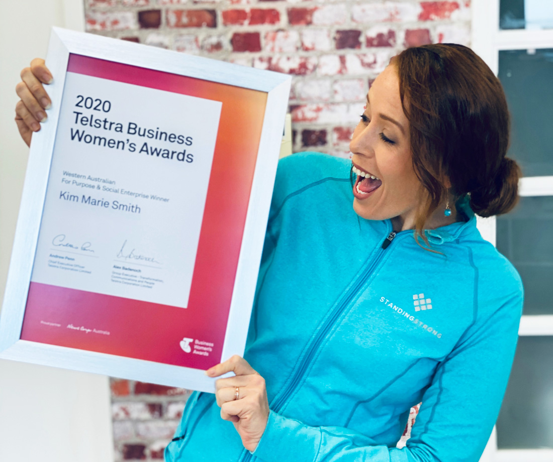 Kim Smith Standing Strong Telstra Award
